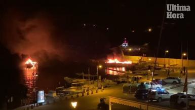 Fire in Portopetro, Mallorca.