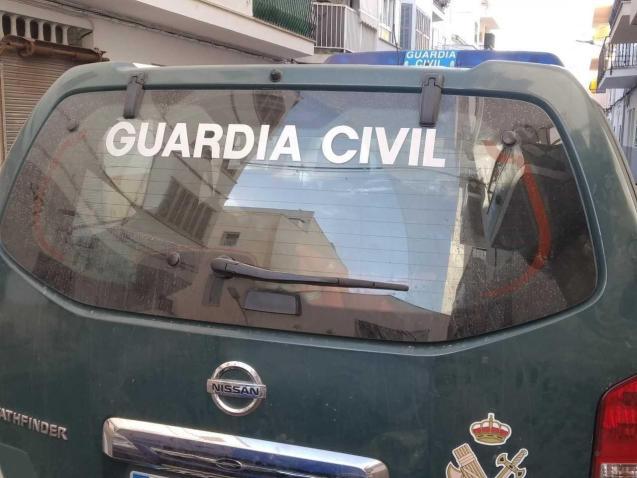 A Guardia Civil patrol car in Mallorca