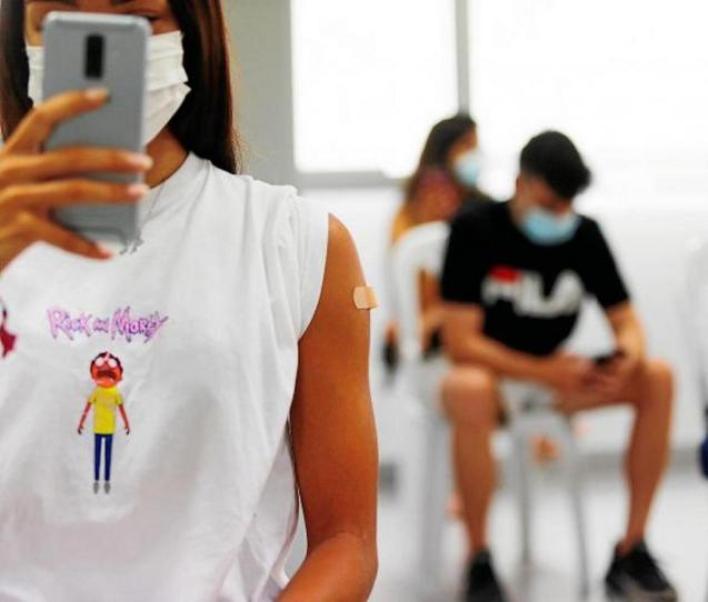 Under 19s vaccination in the Balearic Islands.