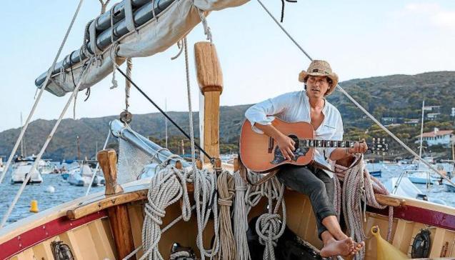 Ramon Mirabet aboard 'Sant Isidre' in Minorca.