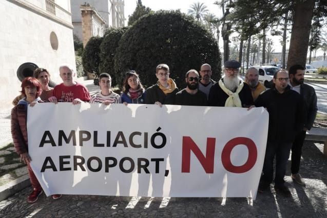 Protest against the expansion of Palma Son Sant Joan Airport in Mallorca