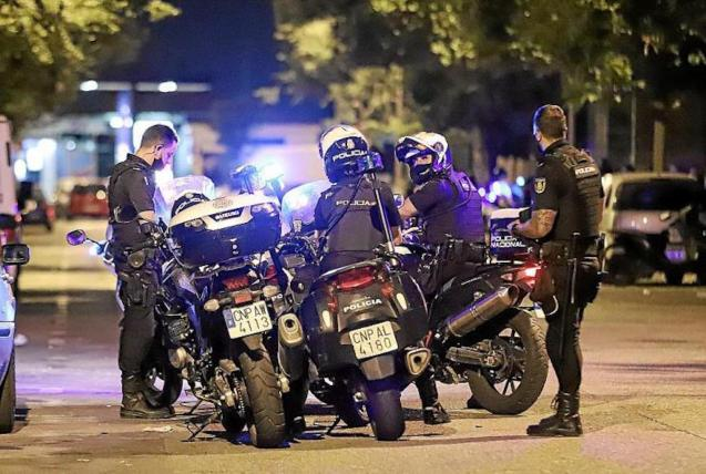 Police in Palma, Mallorca.