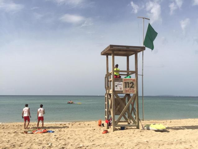 Lifeguards in Palma, Mallorca