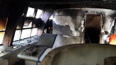 The fire caused extensive damage.