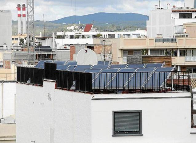 Solar panels in Palma.