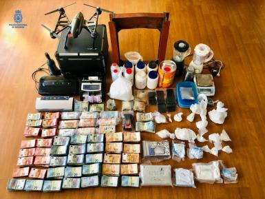 The cash and drugs that were seized.
