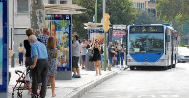Information systems for buses being upgraded.