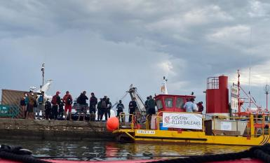 Migrants in Portocolom.