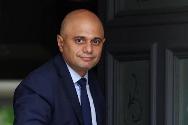 Sajid Javid, UK Health Secretary.