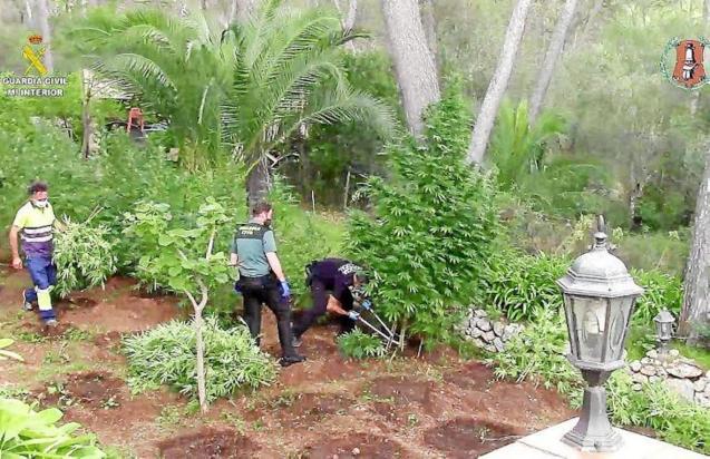 Guardia Civil & Local Police Officers during raid on Sencelles farm.