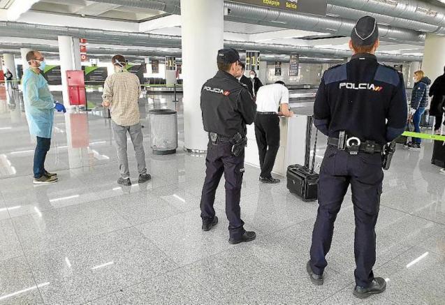 National Police at Palma Airport.