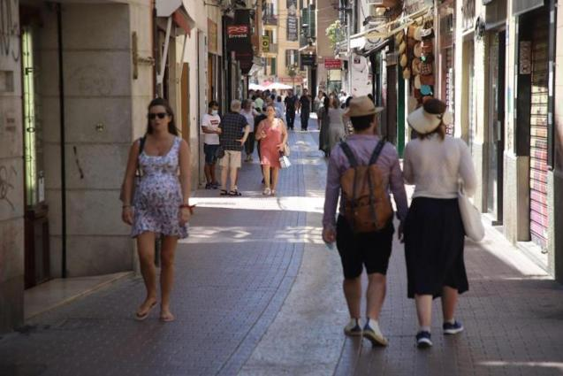 People in the streets of Palma.