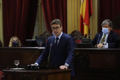 Antoni Costa of the Partido Popular, speaking in parliament on Wednesday.