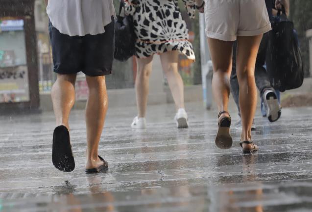 Rain in Palma, Mallorca