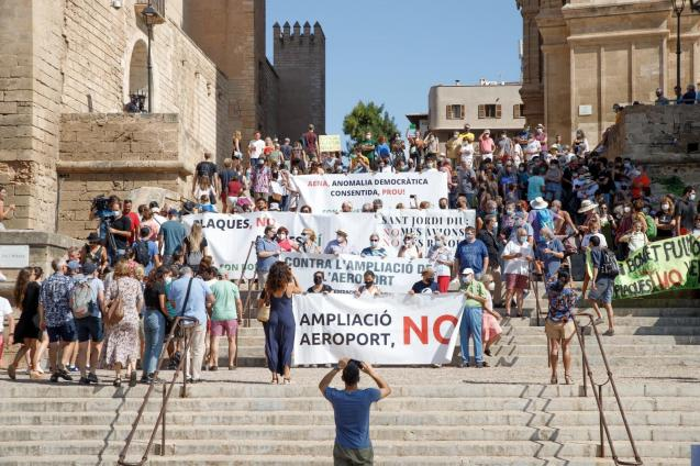 Protest against project for Palma Son Sant Joan Airport, Mallorca