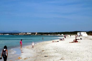 The beach is now part of the Es Trenc Nature Park.