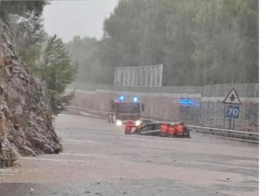 Flooding in Alcudia.