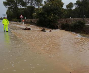 Flooding in the north of Mallorca and Minorca