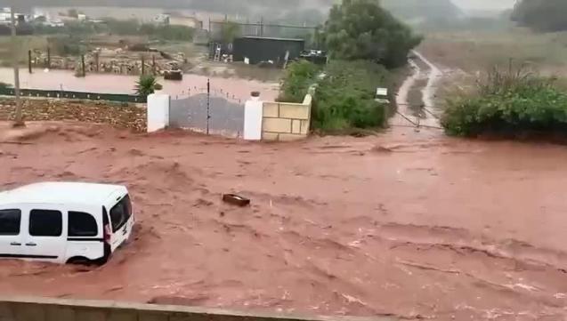 Flooding in Minorca