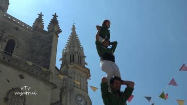 The castellers Al lots de Llevant during the Sant Jaume fiestas in Manacor in 2019.