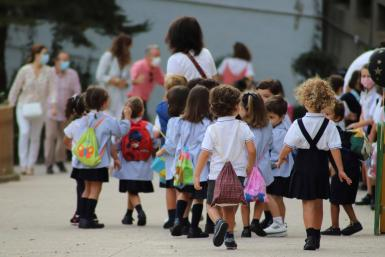 Masks outdoors are obligatory in the Balearics for schoolchildren from the age of six.