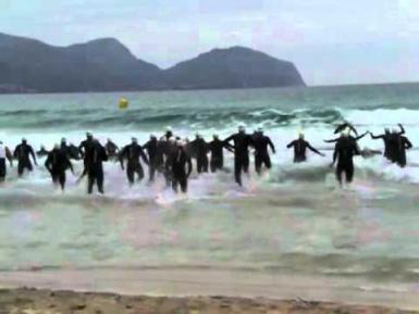 Triathlon Playa de Muro in 2009. Archive video.