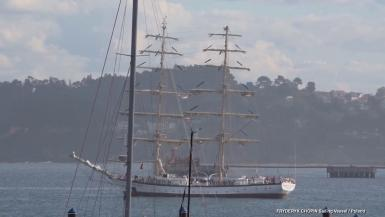 FRYDERYK CHOPIN Sailing Vessel IMO 9030747 GT 670 Length overall: 44 m. Year built: 1992 Ship flag: POLAND (PL) Home port: Szczecin.