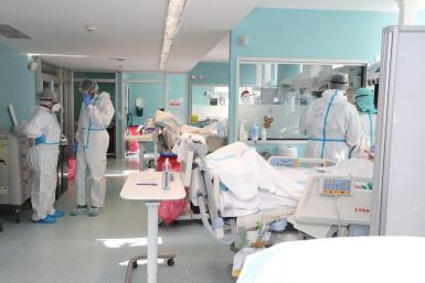 ICU Covid occupancy rate has dropped below ten per cent.