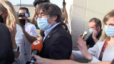 Former Catalan regional chief Puigdemont released from jail, in Sassari