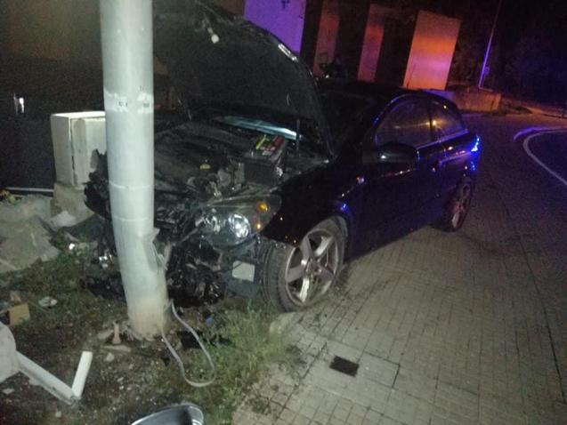 Drunk driver crash in Alcudia, Mallorca