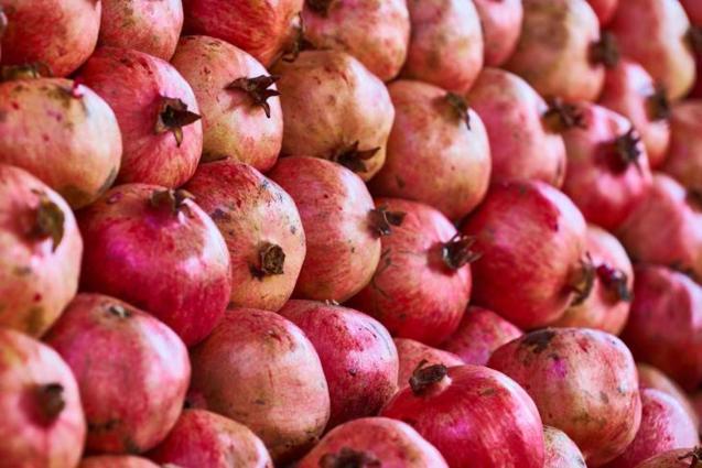 Pomegranates.