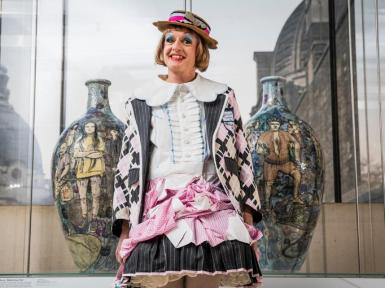 Grayson Perry at the V & A museum.