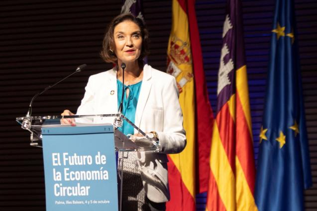 The Spanish Minister for Tourism, Reyes Maroto, in Palma