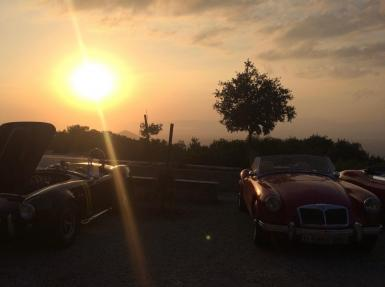 Sunset at Randa, last weekend of September. Cobra and MGA included.