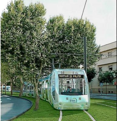 Recreation of the tram for Palma.