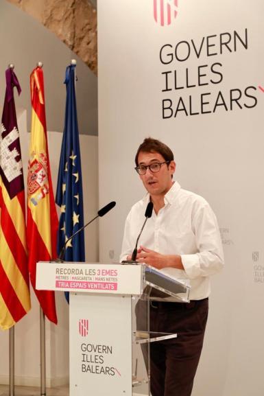 Iago Negueruela in a news conference.