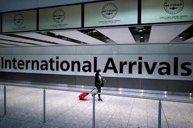 Heathrow Arrivals Terminal, London.