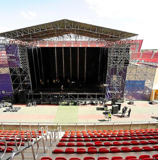Son Moix set up for the four-day pop festival