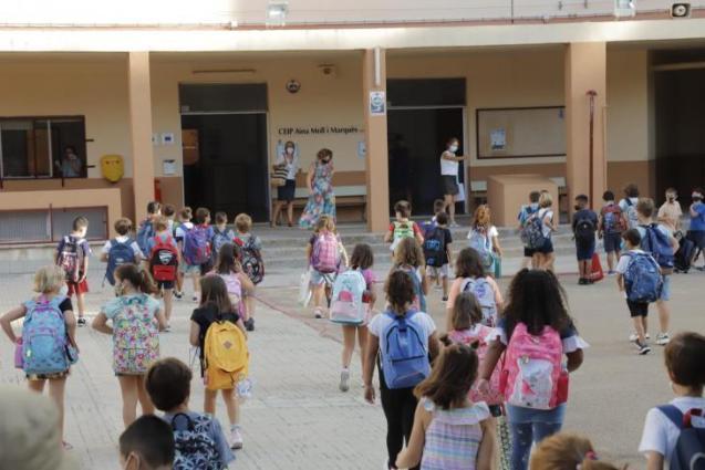 Schoolchildren in Mallorca