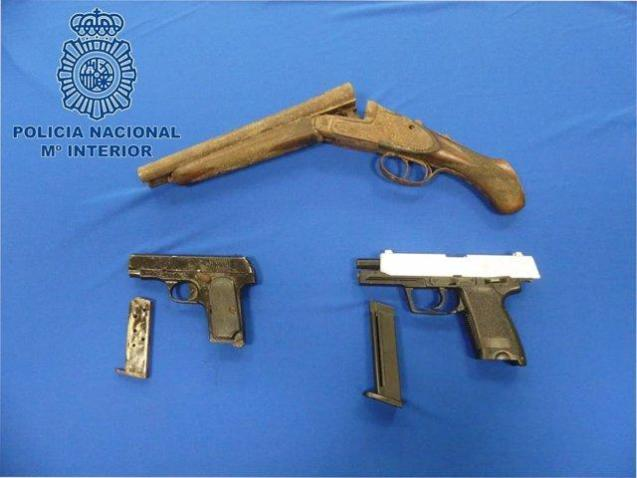 Arms seized by the National Police in Ibiza