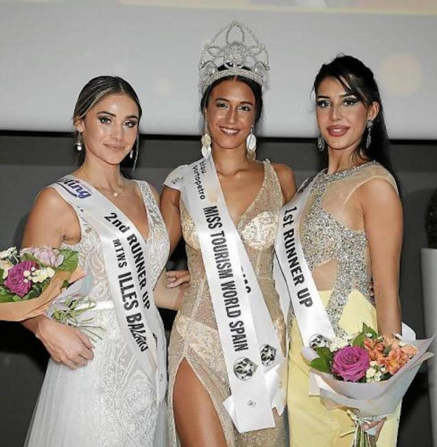 Miss Tourism World Spain 2021, Angie Casado from Asturias with Sara Carbó from Valencia & Megan Bezy from the Balearic Islands.