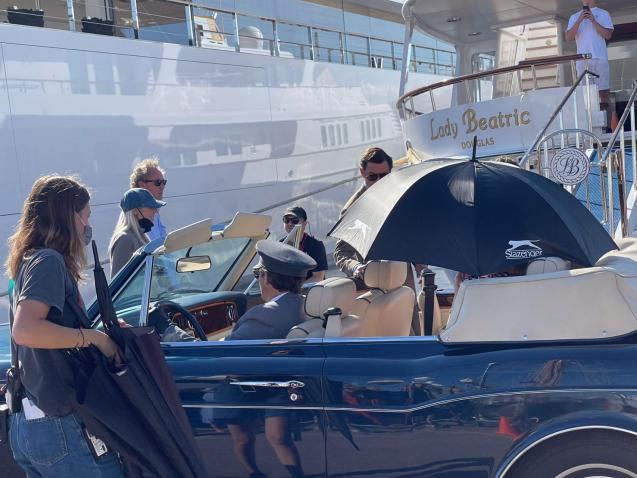 Filming of The Crown in Palma
