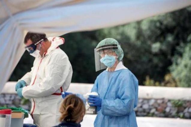 Covid testing at Canal Salat Health Centre, Ciutadella-David Arquimbau Sintes