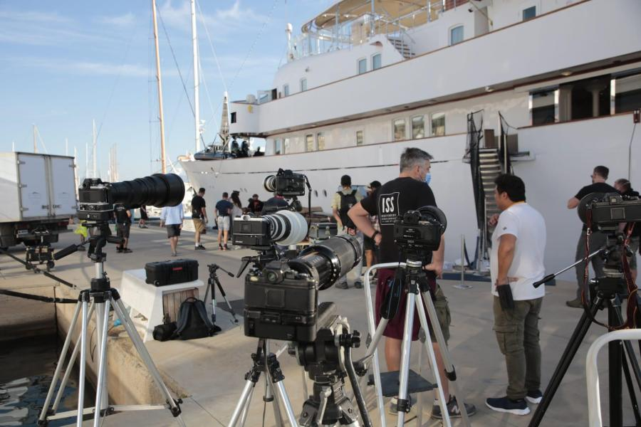 The Christina O probably plays the role of the yacht owned by the Al Fayed family.
