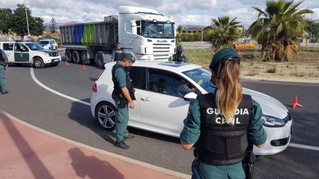 Guardia Civil control in Mallorca