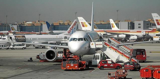 Planes at Palma Son Sant Joan Airport, Mallorca