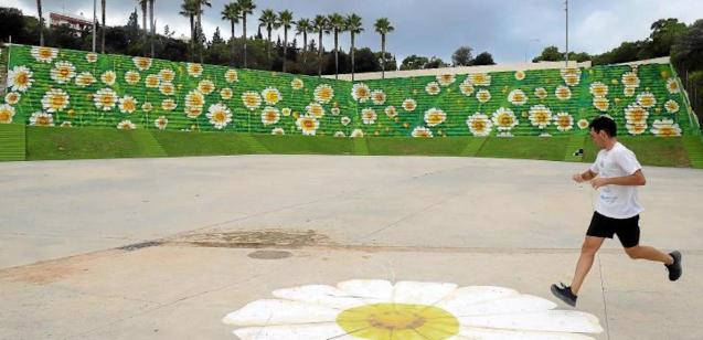 Field of Daisies mural by Joan Aguiló.