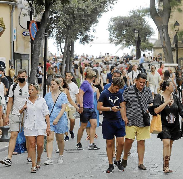 People in Palma, Mallorca