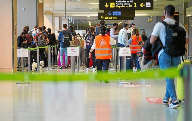 Covid controls at Palma's Son Sant Joan Airport