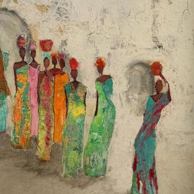 Painting from La Nit de l'Art, Ses Salines.